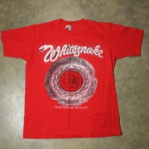 vtg 80s single stitch whitesnake band tee (75)